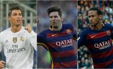 Messi, Neymar y Cristiano, finalistas al Balón de Oro 2015
