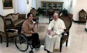 El papa Francisco recibió a la vicepresidenta Michetti