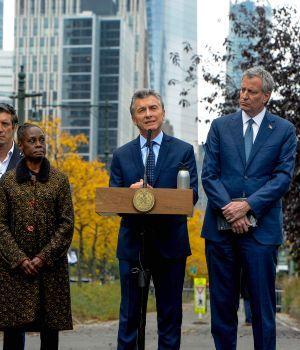 Macri rindió homenaje a los argentinos muertos en Manhattan