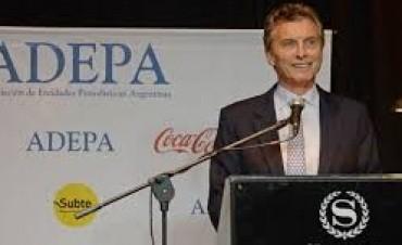 """Macri: """"Necesitamos que la prensa nos marque los errores"""""""