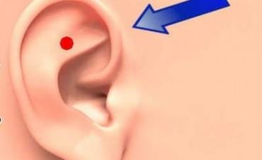 Mirá qué pasa si presionás y masajeás este punto de tu oreja