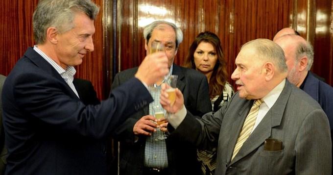 Intimidades del brindis en la Casa Rosada