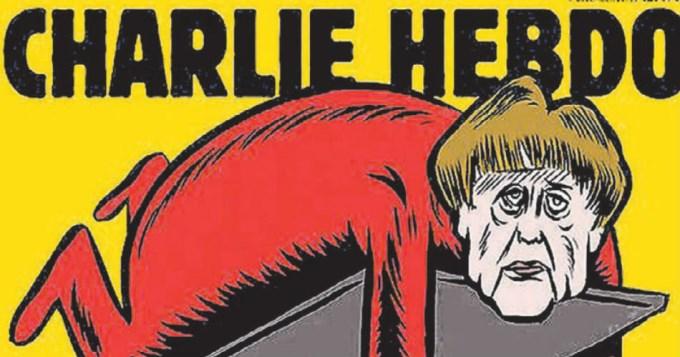 Otra vez al ataque: ahora Charlie Hebdo se burla de Merkel