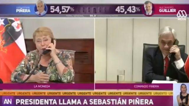 Gran gesto: Bachelet llamó a Piñera para felicitarlo