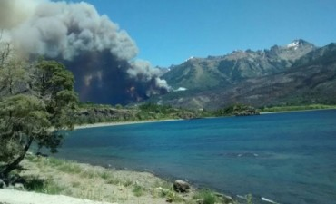 ALARMA EN CHUBUT:El incendio en Los Alerces ya quemó más de 1300 hectáreas de bosques