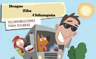 Recomendaciones para viajeros por dengue, zika o chikunguña