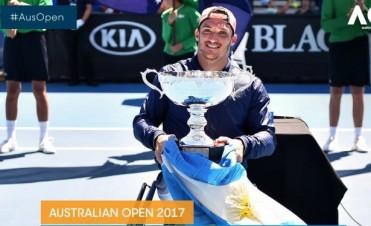 Un argentino, campeón en el Abierto de Australia de Tenis Adaptado