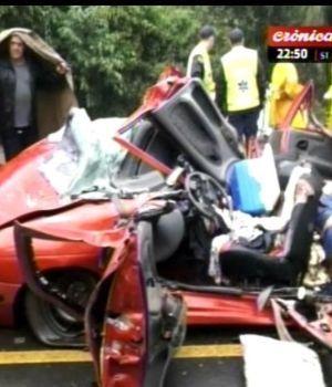 Contenedor aplastó un auto en Brasil: tres argentinos muertos