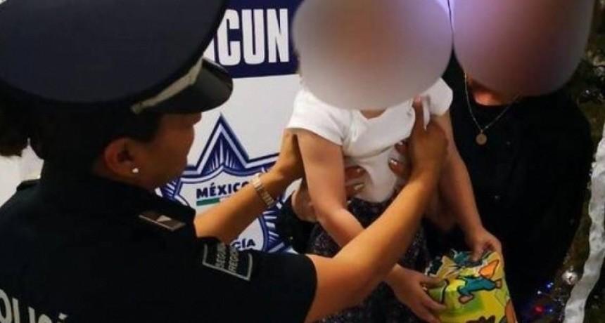 Rescatan en el aeropuerto de Cancún a una nena de 2 años que estaba siendo secuestrada