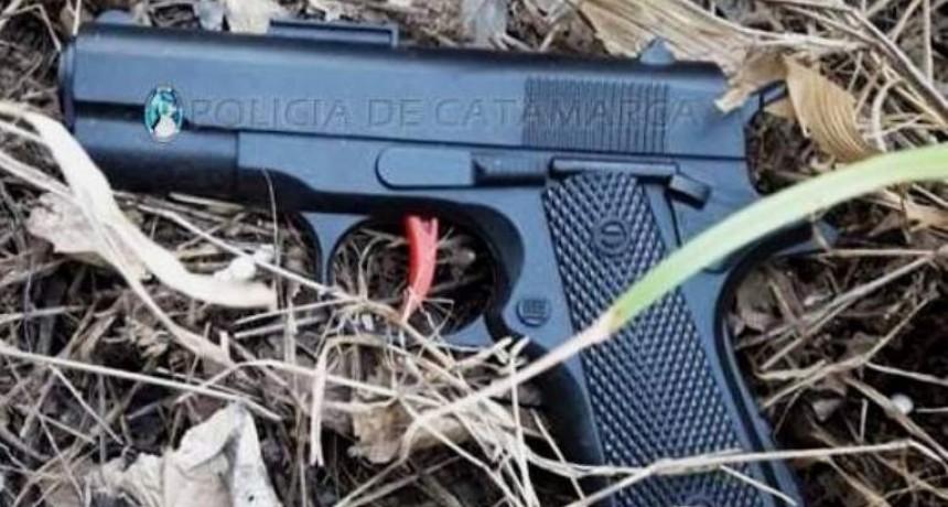 Intentó robar con una pistola de juguete