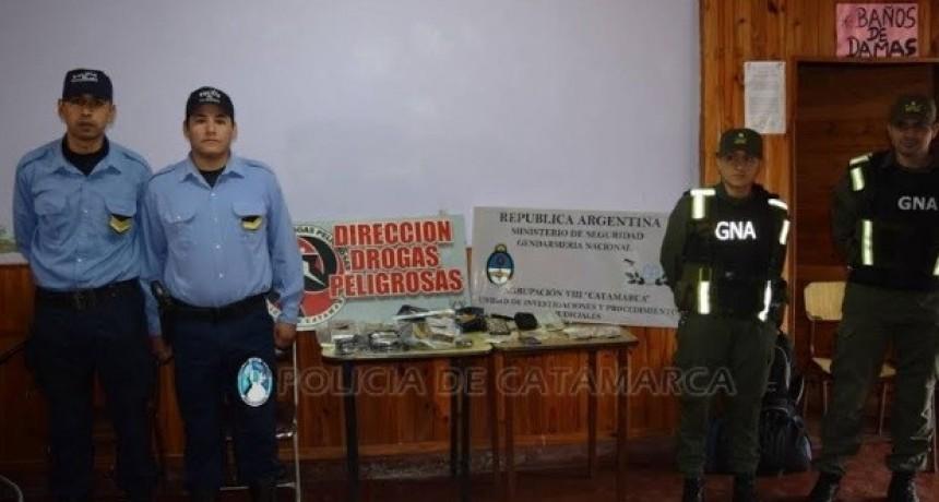 Golpe a las drogas: desbaratan banda que operaba en Tucumán y Catamarca