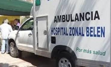 Murio al caer de la caja de una camioneta en Belén