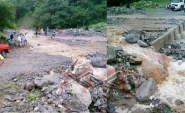 Por la lluvia, crecieron los arroyos de Aconquija