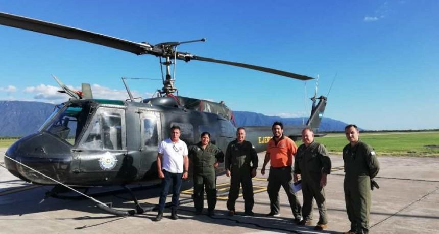 Ya está en Catamarca el helicóptero de Nación que sobrevolará Capayán