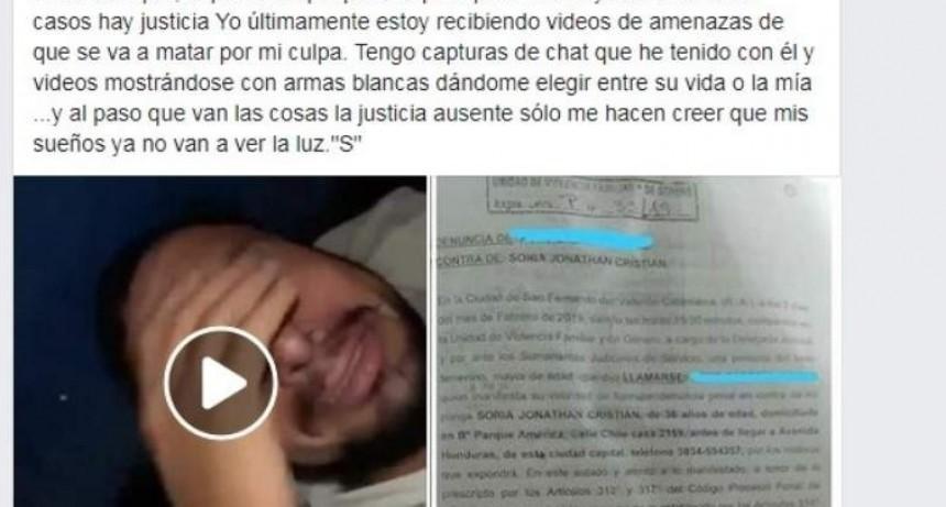 Cansada de la violencia de su novio lo escracho vía Facebook