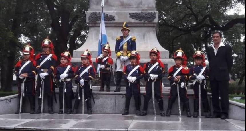 Granaderitos del Sur visitaron Casa de Gobierno