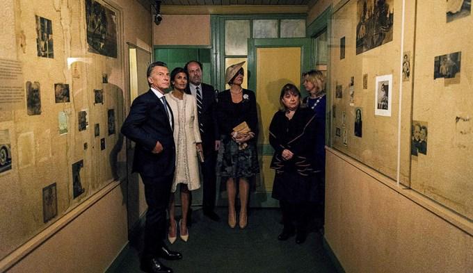 Macri y Awada visitaron la casa de Ana Frank