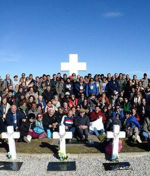 Postales de la histórica y emotiva jornada en Malvinas