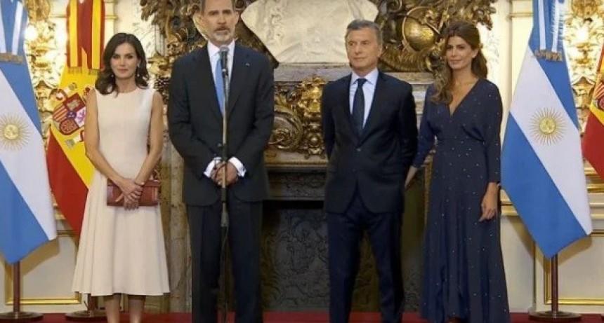 Fuerte respaldo del Rey de España a Macri: Apoyamos todos los programas de reformas que están en marcha en la Argentina