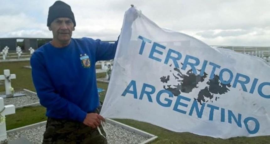 Ex veterano de guerra fue detenido en Malvinas por mostrar una bandera