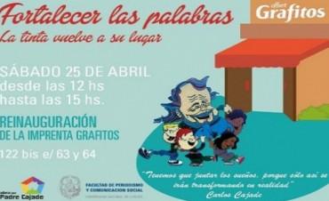 La Plata: reabren una imprenta autogestionada por chicos en situación de vulnerabilidad social