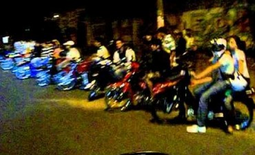 Chocan  20 motos en el barrio Alem