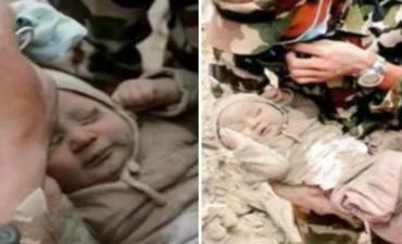 Una beba de cuatro meses, el último milagro en Nepal