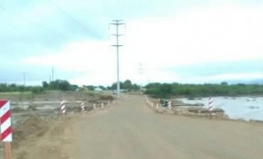 Quedó habilitada con  un paso provisorio la ruta provincial Nº 33
