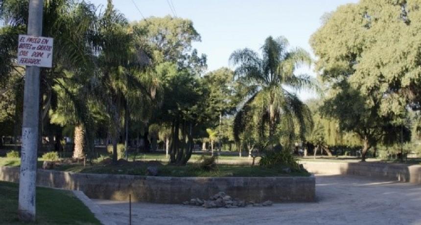 Avanza la primera etapa de puesta en valor del parque Adán Quiroga