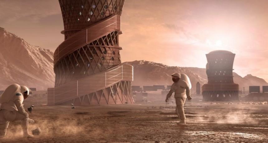 La NASA presentó los tres diseños finalistas para construir casas en Marte