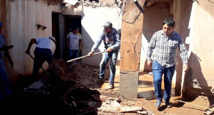 Temporal en Tinogasta: el intendente Nóblega recorrió las zonas afectadas