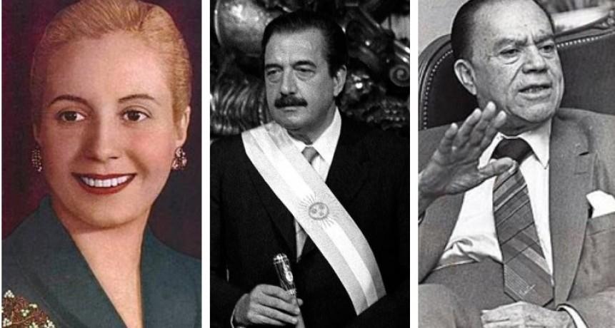 Tres nuevas avenidas con nombres homenaje a Evita, Alfonsín y Vicente Saadi