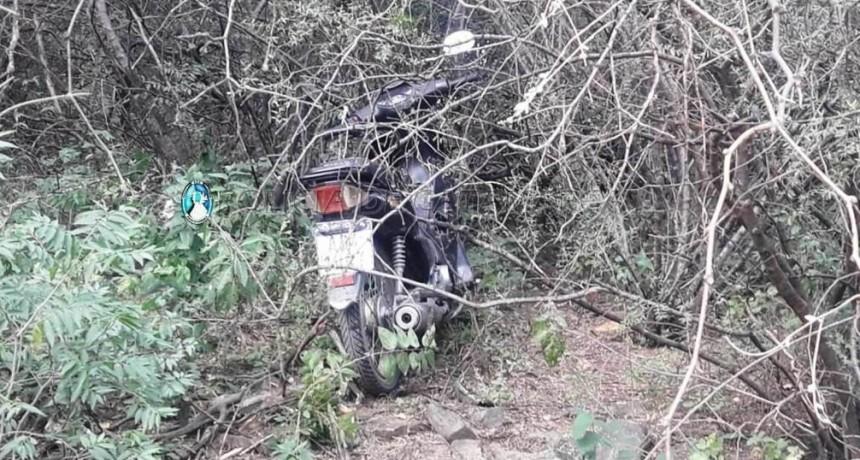Recuperan una motocicleta sustraída en Fray Mamerto Esquiú
