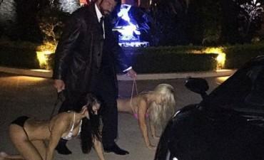 'Candyman', el magnate que pasea a su mujer como un perro