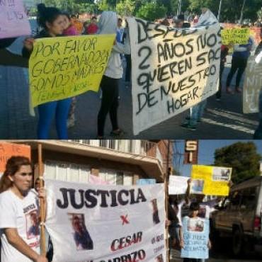 Jornada de protestas Complicaron la circulación en el Micro centro
