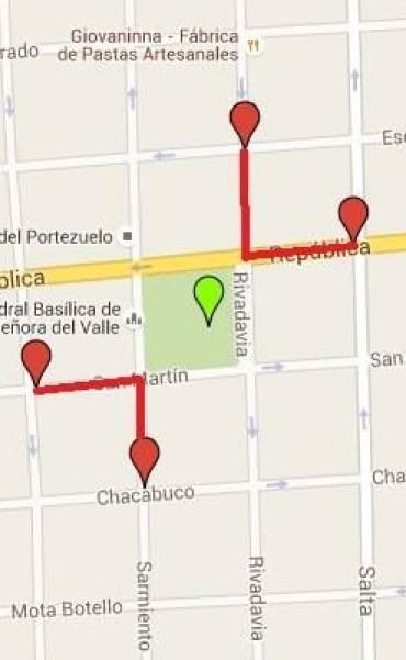 Por los festejos del 25 de Mayo Cortes de calles en la Capital