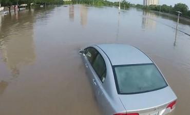 Houston amanece bajo el agua