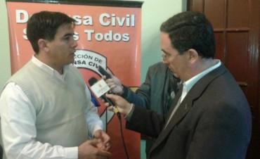 El nuevo director de defensa civil prometió mejorar la comunicación con el interior provincial