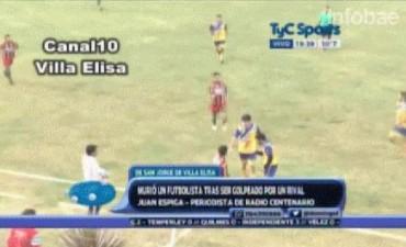 Un jugador de fútbol murió tras un golpe que le pegó un rival