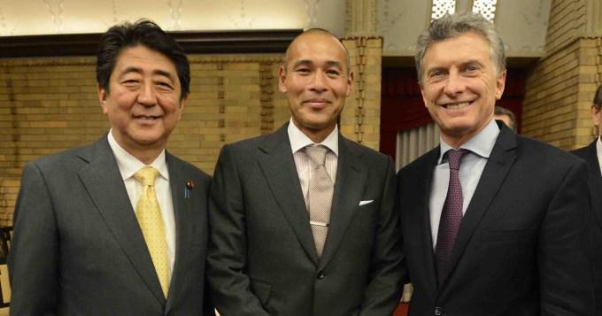 Macri se reencontró con Takahara en Japón