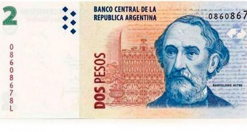 Tras 26 años, salió de circulación el billete de dos pesos