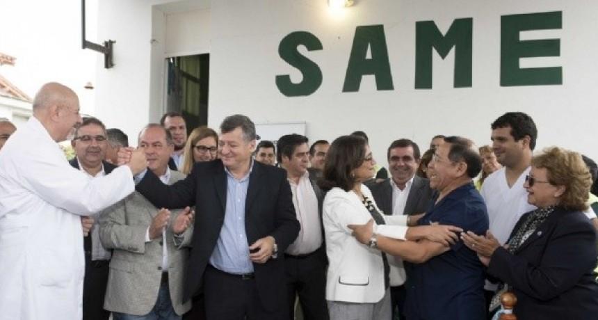 Corpacci dejo inaugurada nueva base del SAME en Chumbicha