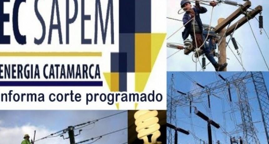 Corte de energía programado el domingo en el Oeste provincial