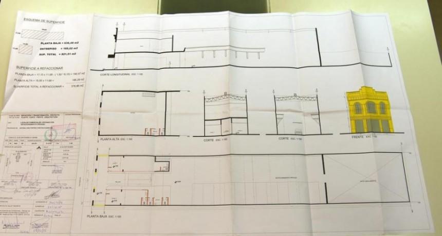 Los planos muestran cómo iba a ser la guardería con dos locales comerciales en el ex cine que se derrumbo