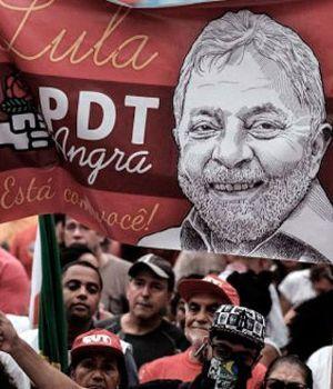 Desde la cárcel, Lula lanzó su candidatura a presidente acompañado por una multitud