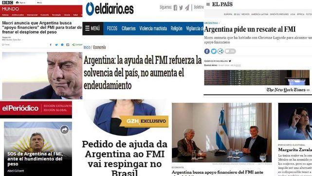 Prensa mundial revolucionada por negociaciones de Argentina y el FMI