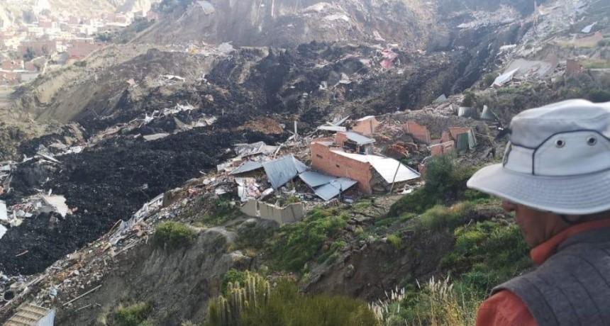 Megadeslizamientos de tierra en Bolivia destruyeron decenas de casas