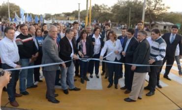 Lucía inauguró la Rotonda de Acceso a Banda de Varela