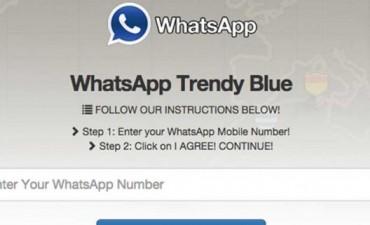 WhatsApp azul, la nueva trampa en la web