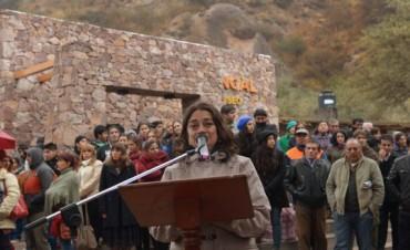 Lucía  encabezó el acto por la puesta en valor de las Ruinas El Shincal